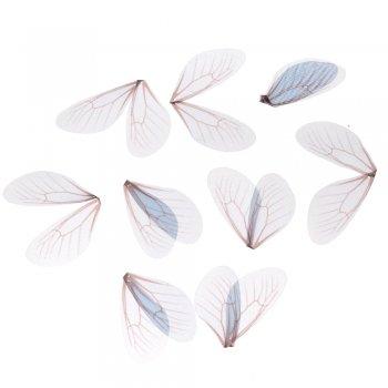 Шелковые крылышки голубой