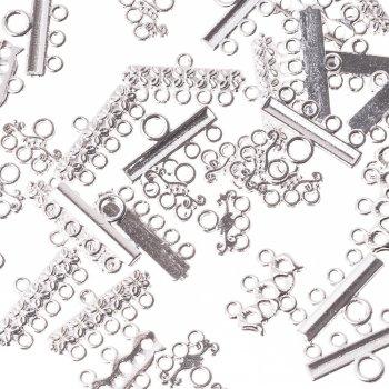 Металлическая литая фурнитура с тремя отверстиями малая