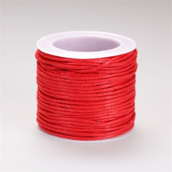Нить хлопковая, красная, 1,5 мм
