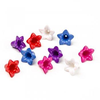 Пластик одноколірний блакитний . Довжина 17 мм, ширина 12 мм.