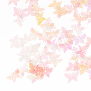 Пайетки белые бабочка