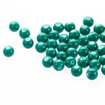 Скло опакове одноколірне. Смарагдово-зелений. Діаметр 12 мм.