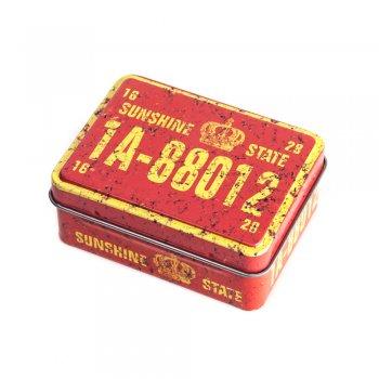 "Коробочка бляшана прямокутна 8х6х3,2 см ""Sunshine State"""