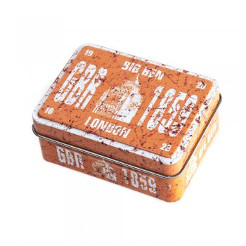"Коробочка бляшана прямокутна 8х6х3,2 см ""Big Ben 1859"""