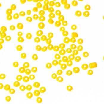 Бісер круглий, великий, жовтий. Калібр 6 (3,6 мм)