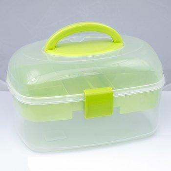 Контейнер - бокс 27,5 * 17,5 * 16 см, салатовий