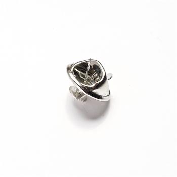 Основа для значков, мельхиор, из 2 деталей, 12 мм