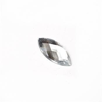 Стрази клейові пластикові 16х8 мм прозорі уп. 15шт