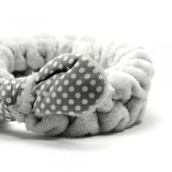 Резинка-обруч для волос Бантик в горошек