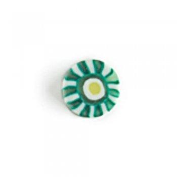 Киви. Бусина из полимерной глины, 10 мм