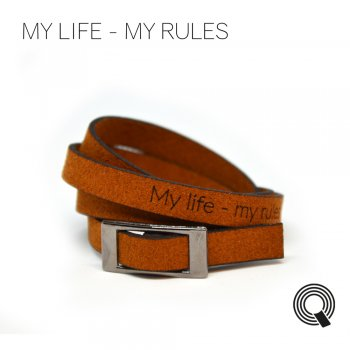 "Браслети квоутлети ""My life - my rules"", темно-коричневий"