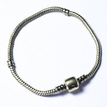Основа для браслета шарм с круглым замком 190 мм бронзовая