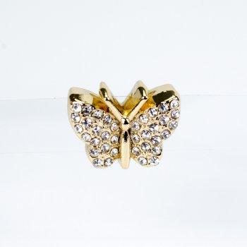 Намистина слайдер Метелик лимонне золото