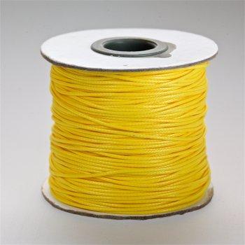 Плетёный шнур жёлтый, 1 мм