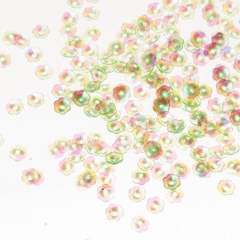 Пайетки зеленые цветы
