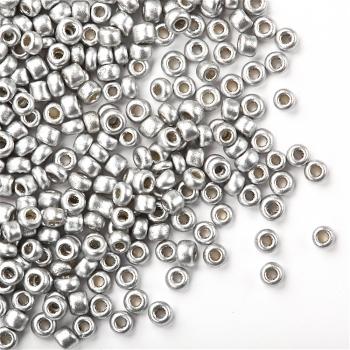 Бісер металізований сріблястий