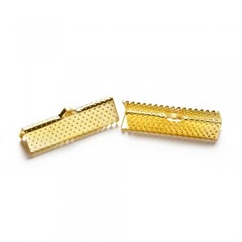 Затискачі для стрічок золоті