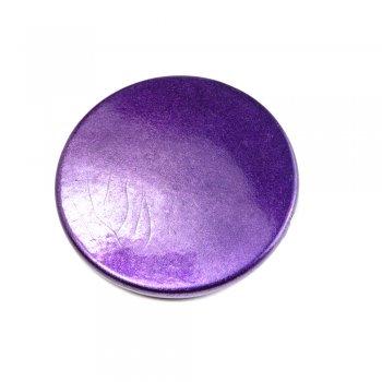 Пластик светорефлекторный фиолетовый. Бусина круглая плоская фиолетовая большая