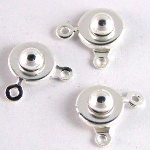 Замки-кнопки сріблясті