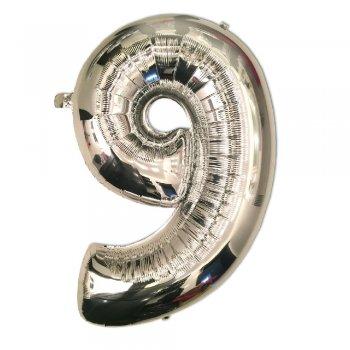 Куля Фольга у вигляді цифри 9 100см