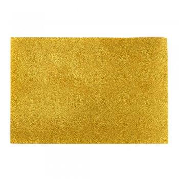 Фоаміран з глітером 20 х 30 см золотий