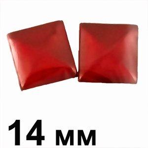 Пластиковые кабошоны выпуклый квадрат красный