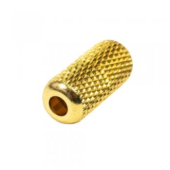 Застібка для шнурків металева капсула 3,5 мм золота