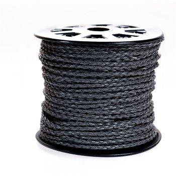 Шнур-кіска сірий шкірзамінник 3 мм