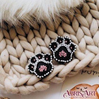 """Набор для вышивки бисером украшения на натуральном художественном холсте """"Лапки"""""""