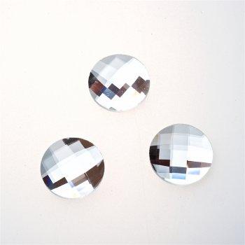 Стрази скляні клейові. Прозорий. Діаметр 18 мм.