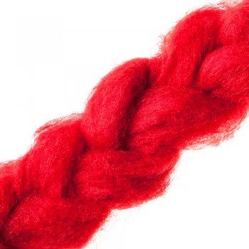 Шерсть новозеландська кардочёсанная червона 25г, К3003