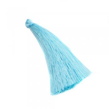 Текстильные кисточки голубые