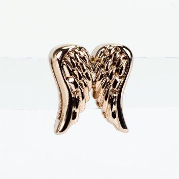 Бусина слайдер Крылья розовое золото