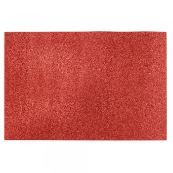 Фоамиран с глиттером 20 х 30 см красный