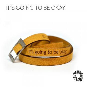 """Браслеты квоутлеты """"It's going to be okay"""", медового цвета"""