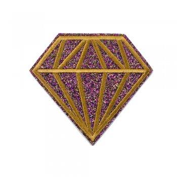 Тканинна нашивка Діамант Бузково-коричневий