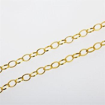 Цепь под золото средняя якорная 6х8х1,2 мм