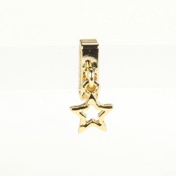 Бусина слайдер Звезда лимонное золото
