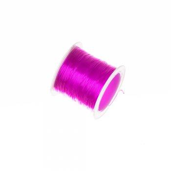 Резинка силиконовая, толстая, розовая 0,8мм