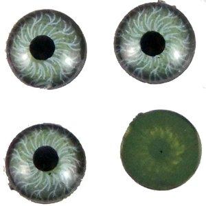 Пластиковые глазки зеленый 5 мм