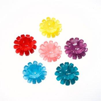 Пластикова намистина подвійний квітка