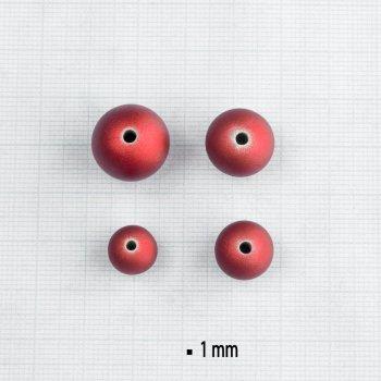 Бусы 15 мм. Пластик с прорезиненным покрытием тёмно-красный