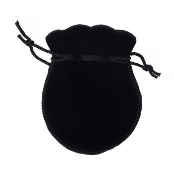 Декоративний мішечок оксамитовий 9,5х7,5 см чорний
