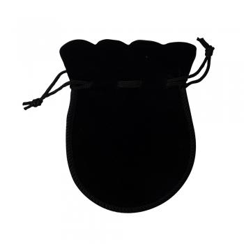 Декоративный мешочек бархатный 12х9 см черный
