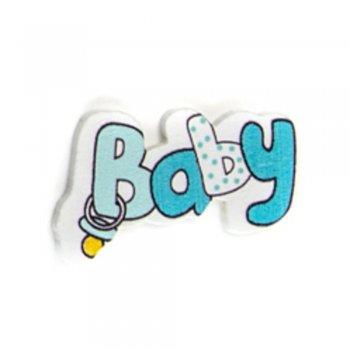 Baby голубого цвета. Деревянные клеевые элементы