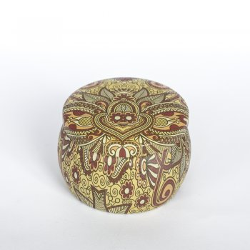 "Коробочка жестяная ""Золотая лилия"" 7,4х5,2 см"