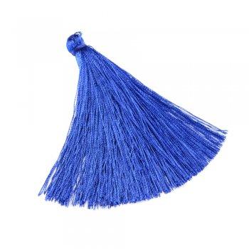 Текстильные кисточки синие