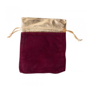 Декоративный мешочек бархатный 15х12 см бордовый