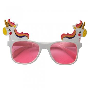 Солнцезащитные очки розовые с Единорогом