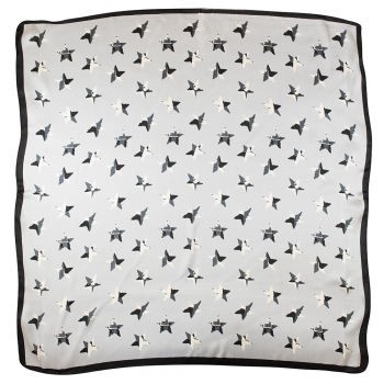 Платок 70х70 см со звездами серый